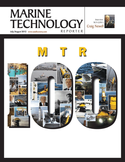 Cover of July 2012 issue of Marine Technology Reporter Magazine