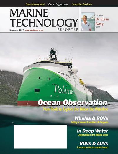 Cover of September 2012 issue of Marine Technology Reporter Magazine