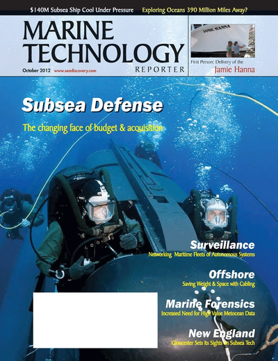 Cover of October 2012 issue of Marine Technology Reporter Magazine