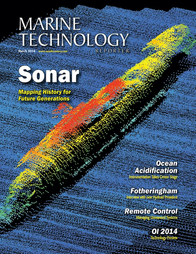 Cover of March 2014 issue of Marine Technology Reporter Magazine
