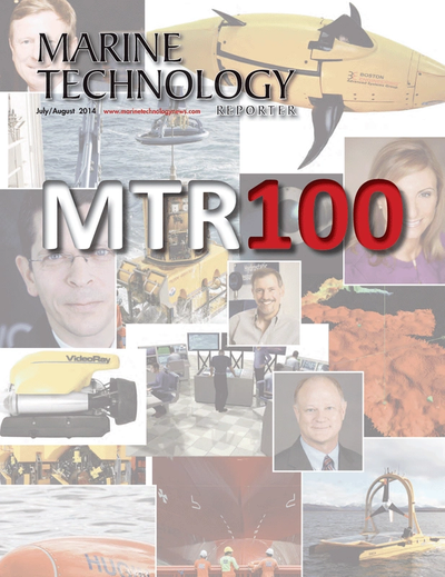 Cover of July 2014 issue of Marine Technology Reporter Magazine