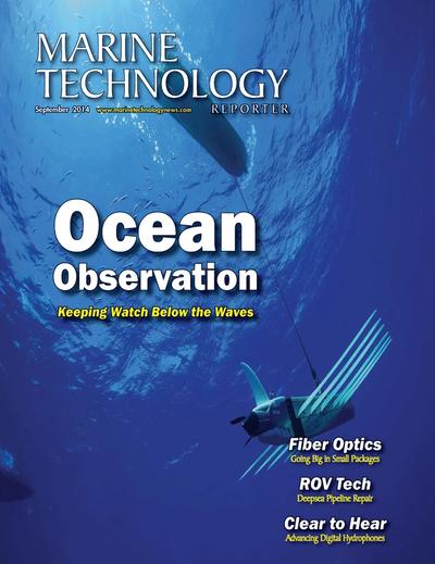 Cover of September 2014 issue of Marine Technology Reporter Magazine