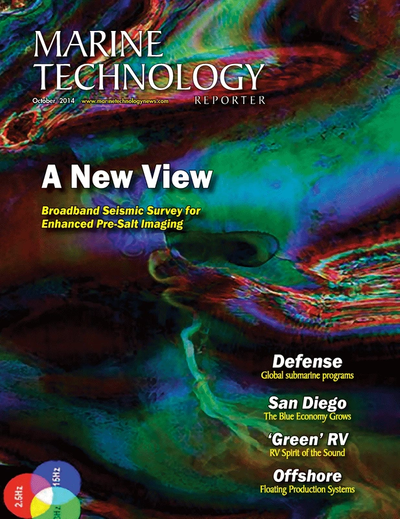 Cover of October 2014 issue of Marine Technology Reporter Magazine