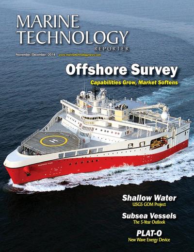 Cover of November 2014 issue of Marine Technology Reporter Magazine