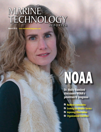 Cover of March 2015 issue of Marine Technology Reporter Magazine