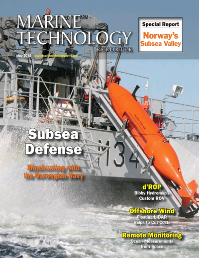 Cover of May 2015 issue of Marine Technology Reporter Magazine