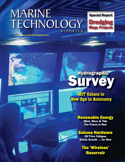 Cover of June 2015 issue of Marine Technology Reporter Magazine