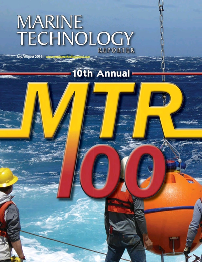 Cover of July 2015 issue of Marine Technology Reporter Magazine