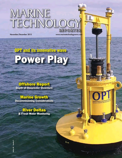 Cover of November 2015 issue of Marine Technology Reporter Magazine