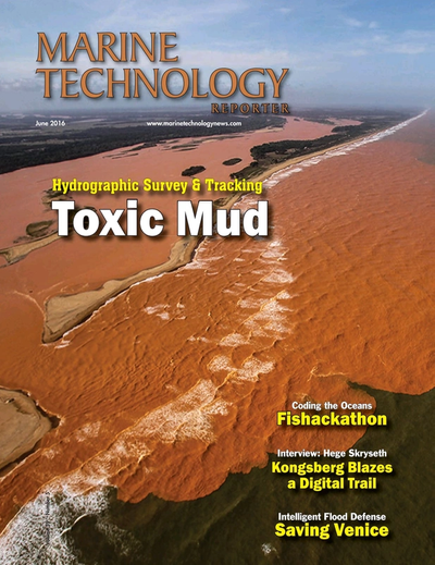 Cover of June 2016 issue of Marine Technology Reporter Magazine