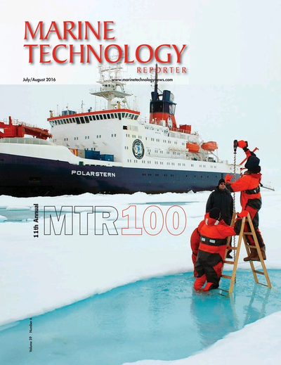 Cover of July 2016 issue of Marine Technology Reporter Magazine