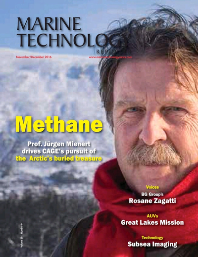 Cover of November 2016 issue of Marine Technology Reporter Magazine
