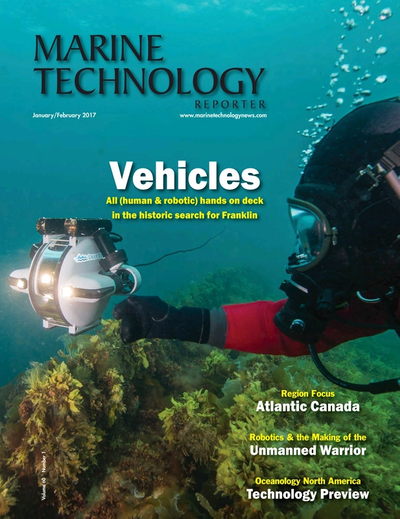 Cover of January 2017 issue of Marine Technology Reporter Magazine