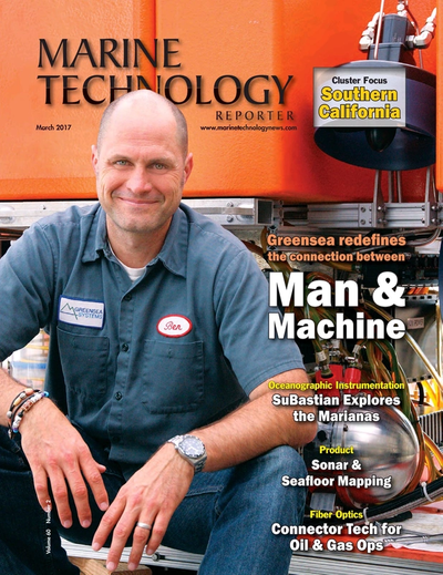 Cover of March 2017 issue of Marine Technology Reporter Magazine