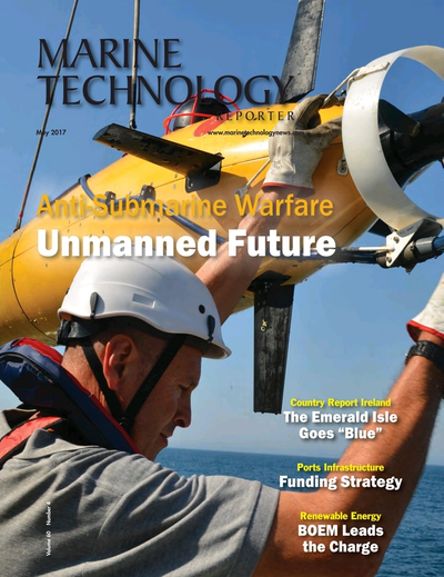 Cover of May 2017 issue of Marine Technology Reporter Magazine