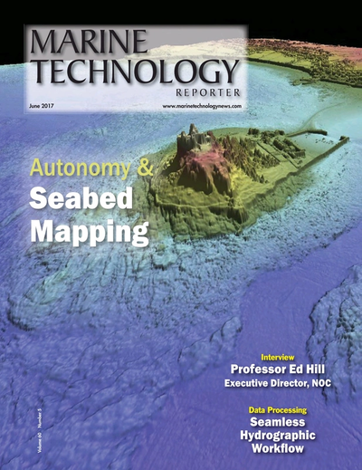 Cover of June 2017 issue of Marine Technology Reporter Magazine