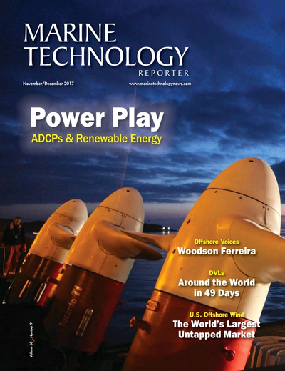 Cover of November 2017 issue of Marine Technology Reporter Magazine