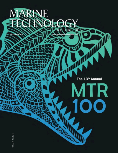 Cover of July 2018 issue of Marine Technology Reporter Magazine