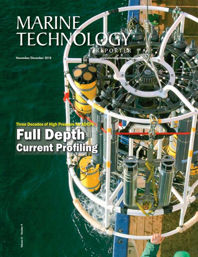 Cover of November 2018 issue of Marine Technology Reporter Magazine