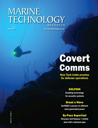 Cover of May 2019 issue of Marine Technology Reporter Magazine