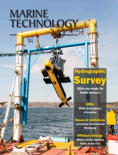 Cover of June 2019 issue of Marine Technology Reporter Magazine