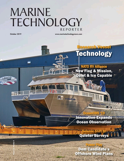Cover of October 2019 issue of Marine Technology Reporter Magazine