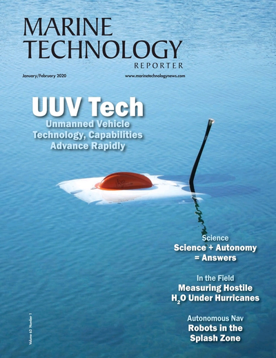 Cover of January 2020 issue of Marine Technology Reporter Magazine