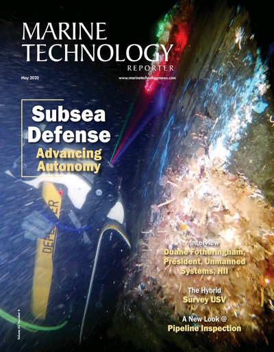 Cover of May 2020 issue of Marine Technology Reporter Magazine