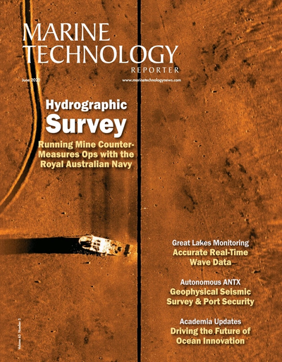 Cover of June 2020 issue of Marine Technology Reporter Magazine