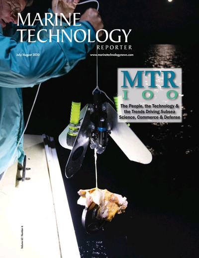 Cover of July 2020 issue of Marine Technology Reporter Magazine
