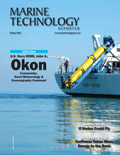 Cover of October 2020 issue of Marine Technology Reporter Magazine
