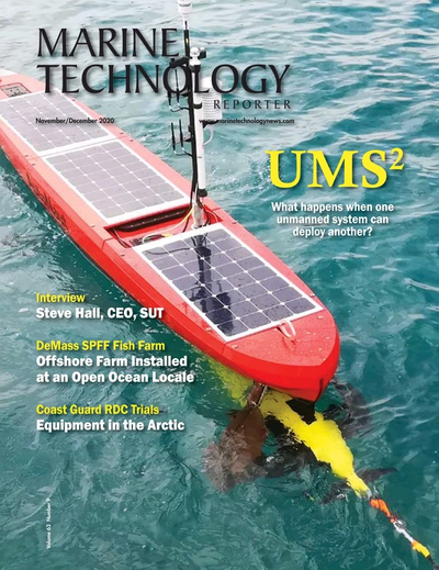 Cover of November 2020 issue of Marine Technology Reporter Magazine