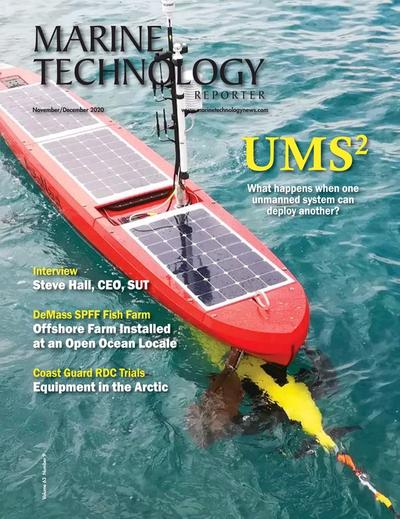 Cover of November 2020 issue of Marine Technology Reporter Magazine