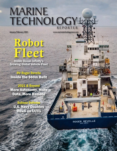 Cover of January 2021 issue of Marine Technology Reporter Magazine