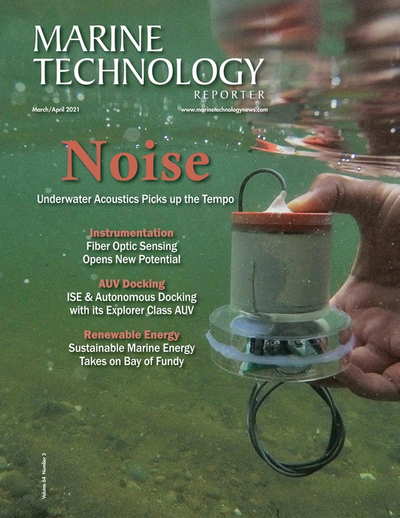 Cover of March 2021 issue of Marine Technology Reporter Magazine