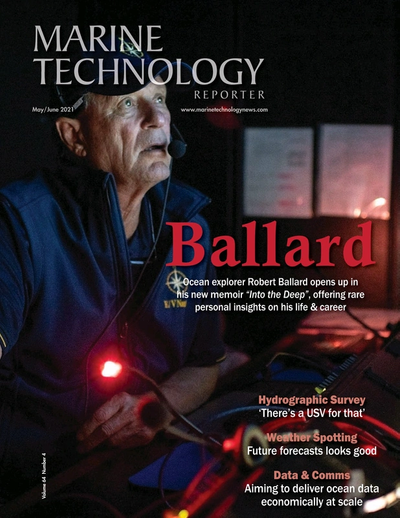 Cover of May 2021 issue of Marine Technology Reporter Magazine