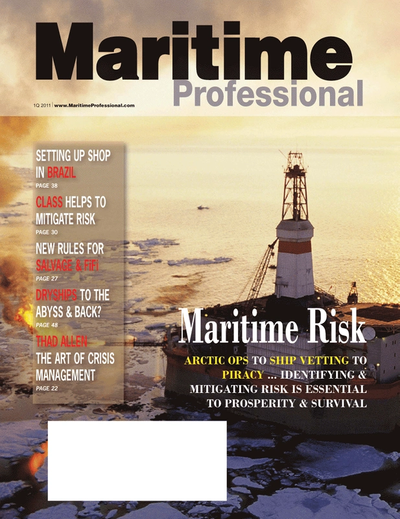 Cover of Q1 2011 issue of Maritime Logistics Professional Magazine