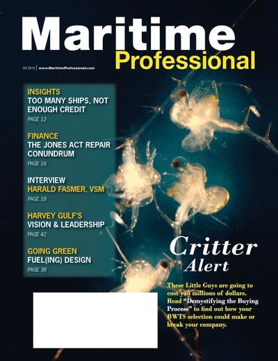 Cover of Q3 2012 issue of Maritime Logistics Professional Magazine