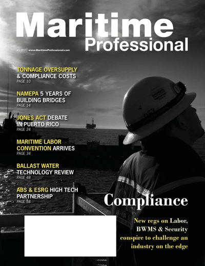Cover of Q4 2012 issue of Maritime Logistics Professional Magazine