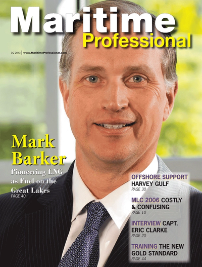 Cover of Q3 2013 issue of Maritime Logistics Professional Magazine