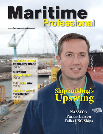 Cover of Q4 2013 issue of Maritime Logistics Professional Magazine