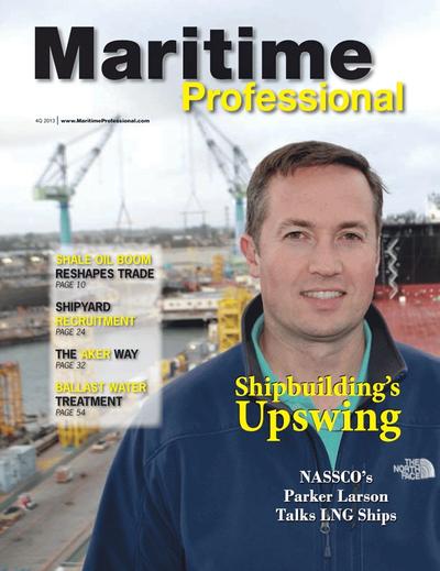 Cover of Q4 2013 issue of Maritime Logistics Professional Magazine