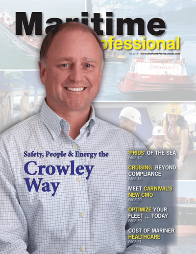 Cover of Q1 2014 issue of Maritime Logistics Professional Magazine