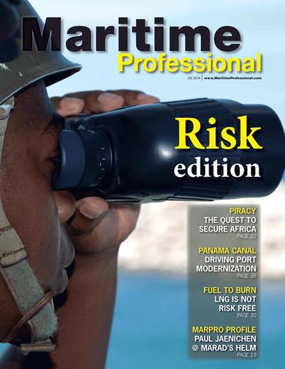 Cover of Q2 2014 issue of Maritime Logistics Professional Magazine