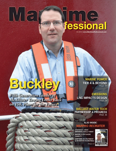 Cover of Q4 2014 issue of Maritime Logistics Professional Magazine
