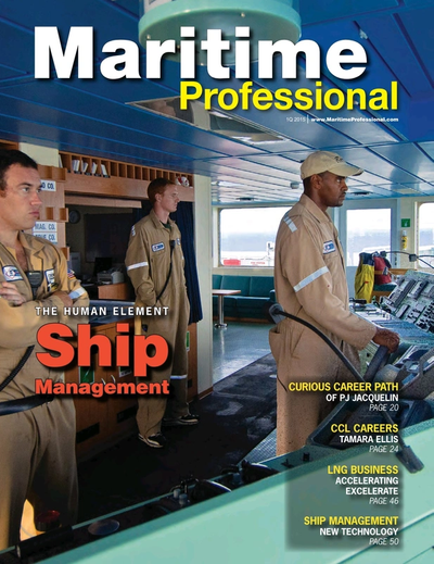 Cover of Q1 2015 issue of Maritime Logistics Professional Magazine