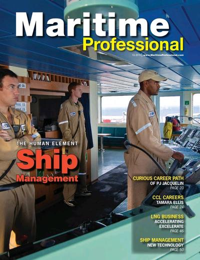 Cover of Q1 2015 issue of Maritime Logistics Professional Magazine