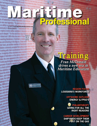 Cover of Q4 2015 issue of Maritime Logistics Professional Magazine