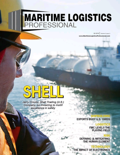 Cover of Q3 2016 issue of Maritime Logistics Professional Magazine