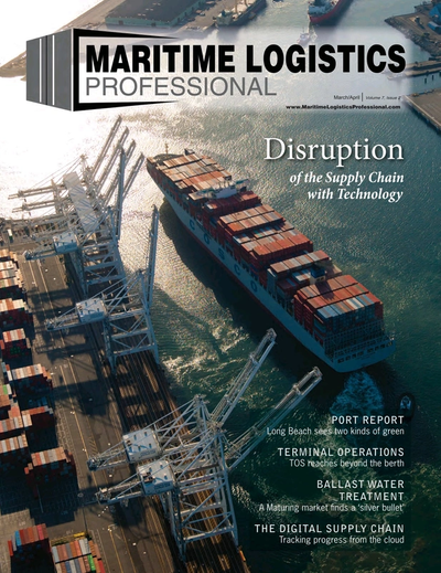 Cover of Mar/Apr 2017 issue of Maritime Logistics Professional Magazine